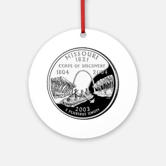 Missouri Quarter Ornament (Round)