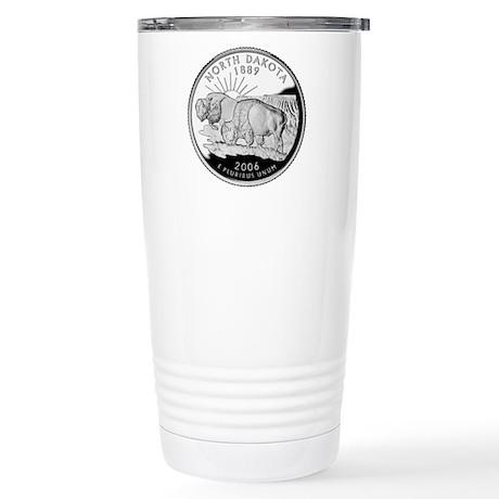 North Dakota Quarter Stainless Steel Travel Mug