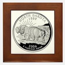 North Dakota Quarter Framed Tile