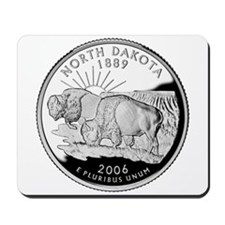 North Dakota Quarter Mousepad