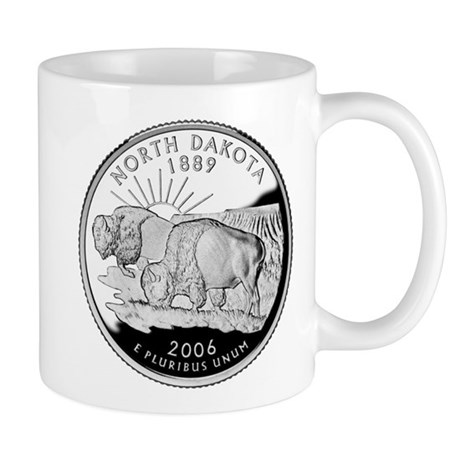 North Dakota Quarter Mug