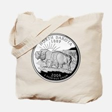 North Dakota Quarter Tote Bag