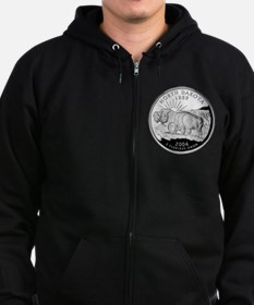 North Dakota Quarter Zip Hoodie