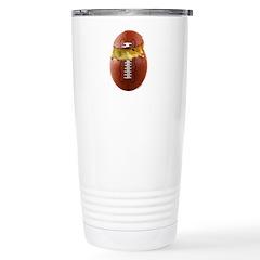 Football Chick Stainless Steel Travel Mug