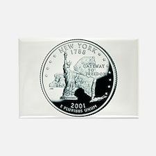 New York Quarter Rectangle Magnet