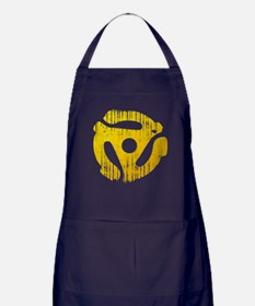 Distressed Yellow 45 RPM Adap Apron (dark)