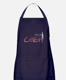Red Sous Chef Apron (dark)