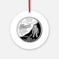 Ohio Quarter Ornament (Round)