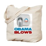 Obama Blows Tote Bag