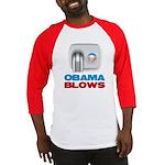 Obama Blows Baseball Jersey