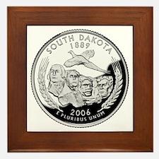 South Dakota Quarter Framed Tile