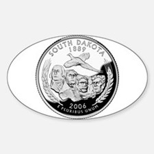 South Dakota Quarter Oval Decal