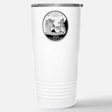Wisconsin Quarter Stainless Steel Travel Mug