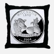 Wisconsin Quarter Throw Pillow