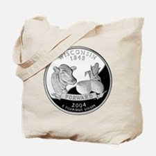Wisconsin Quarter Tote Bag