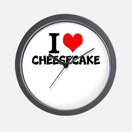 I Love Cheesecake Wall Clock