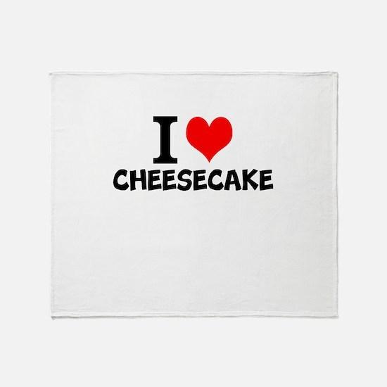 I Love Cheesecake Throw Blanket