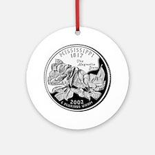 Mississippi Quarter Ornament (Round)