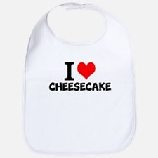I Love Cheesecake Baby Bib