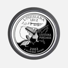 Louisiana Quarter Wall Clock