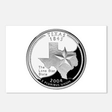 Texas Quarter Postcards (Package of 8)