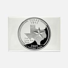 Texas Quarter Rectangle Magnet