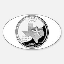 Texas Quarter Oval Decal