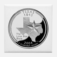 Texas Quarter Tile Coaster