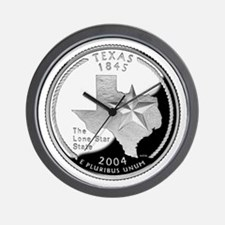 Texas Quarter Wall Clock
