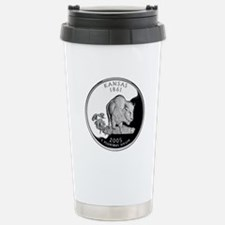Kansas Quarter Stainless Steel Travel Mug