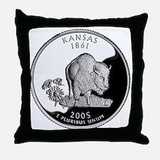 Kansas Quarter Throw Pillow