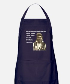 Brotherhood Quote Apron (dark)