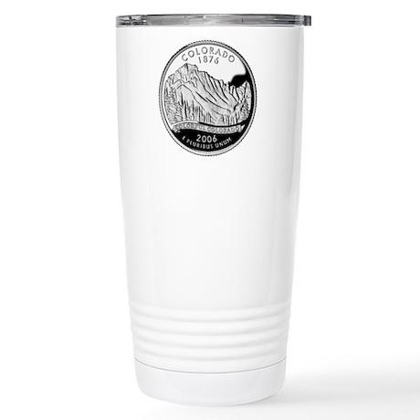 Colorado Quarter Stainless Steel Travel Mug
