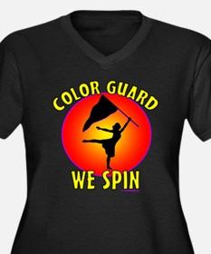 Color Guard -- We Spin Women's Plus Size V-Neck Da