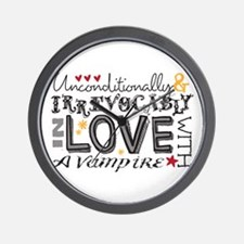 Cute Unconditionally and irrevocably in love Wall Clock