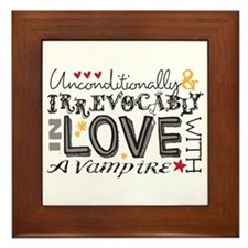 Cute Unconditionally and irrevocably in love Framed Tile