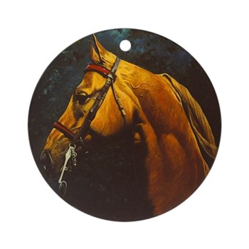 RED CAVESSON Ornament (Round)