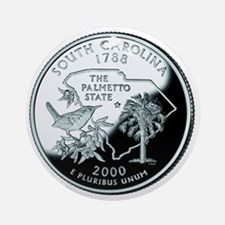 South Carolina Quarter Ornament (Round)
