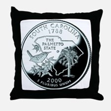 South Carolina Quarter Throw Pillow