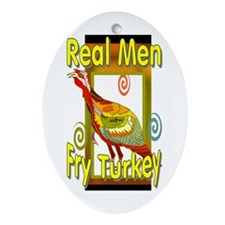 Real Men Oval Ornament
