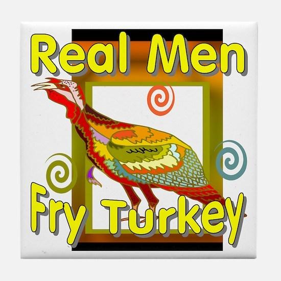 Real Men Tile Coaster