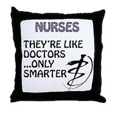 Funny Medical school Throw Pillow