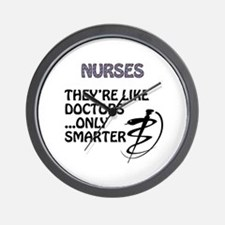 Cute Careers and professions nurse Wall Clock