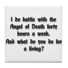 Angel of Death Tile Coaster