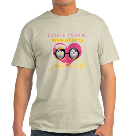 I Love My Marine Penguin Styl Light T-Shirt