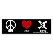 Peace Love Chaos Bumper Bumper Sticker