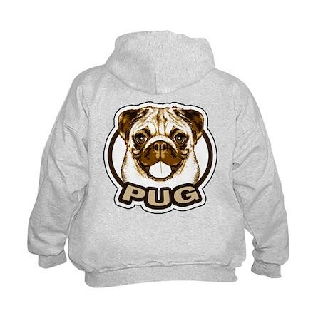 Pug Face Kids Hoodie