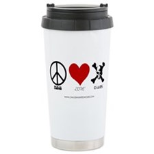 Peace Love Chaos Travel Mug