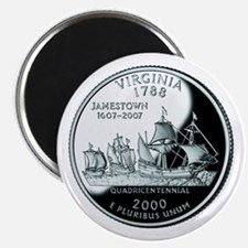 "Virginia Quarter 2.25"" Magnet (10 pack)"