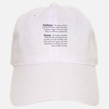Waitress/Nurse Baseball Baseball Cap